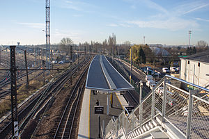 Créteil-Pompadour (Paris RER) - View over the platforms