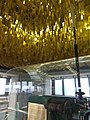 Garish yellow glass chandelier (20564543819).jpg