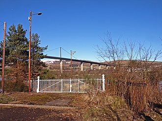 Erskine Ferry - Image: Gates at Abandoned Erskine Ferry Slipway geograph.org.uk 1735558
