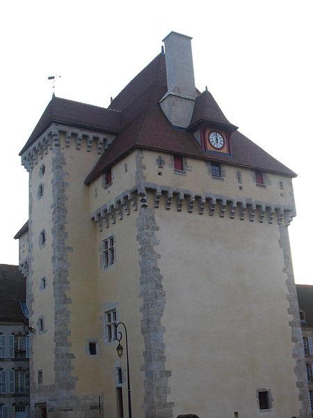 """Donjon du château de Gayette à Montoldre (03). Le domaine est devenu une maison de retraite, qui a inspiré à R. Fallet le nom de l'hospice de Gouyette dans son roman """"Les vieux de la vieille""""."""
