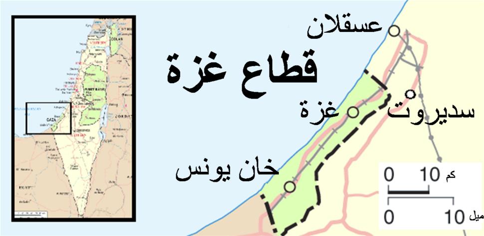 Gaza conflict map Arabic