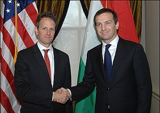 Gordon Bajnai - Bajnai met with U.S. Secretary Timothy Geithner on 4 December 2009
