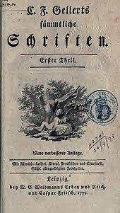 C. F. Gellerts sämmtliche Schriften. Teil 1 (1775) (Quelle: Wikimedia)