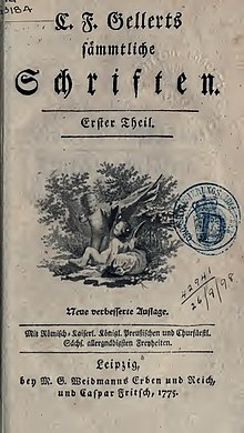 C. F. Gellerts sämmtliche Schriften. 1 (1775) (Source: Wikimedia)