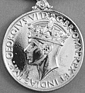 General Service Medal 1918 GVI obv