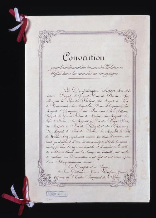 Original document as PDF in single pages, 1864 Geneva Convention 1864 - CH-BAR - 29355687.pdf