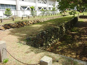 Mongol invasions of Japan - A stone defense wall, (Genko Borui), in Hakata, now Fukuoka