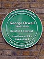 George Orwell 1903-1950 Novelist & Essayist lived here at 27b 1944-1947.jpg
