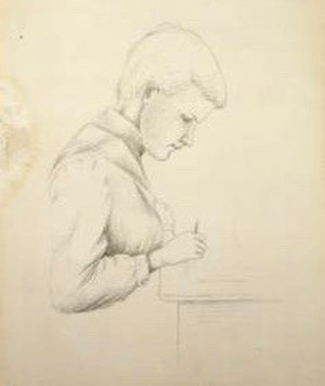 Early works of Georgia O'Keeffe - Georgia O'Keefe, Untitled (Seated Figure), 1901-1902, graphite on paper