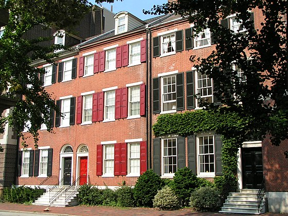 Georgian style homes in Philadelphia. Georgian Homes, Philadelphia.jpg