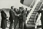 Gerald Ford deplaning at Patrick Henry Airport before third debate2.jpg