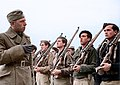 German officer from the Condor Legion instructing Nationalist infantry soldiers, Ávila, January 1939. (39728449992).jpg