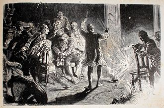 Alessandro Cagliostro - 19th-century illustration of a Cagliostro performance in Dresden