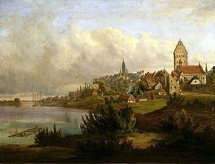 Widok na Nowe i Stare Miasto od północy
