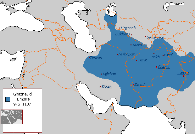 Ghaznavid Empire at its greatest extent in 1030 CE
