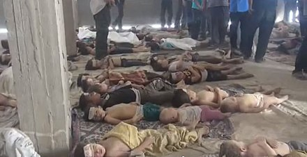 Corpses of the victims of the 2013 Ghouta chemical attack Ghouta massacre4.JPG