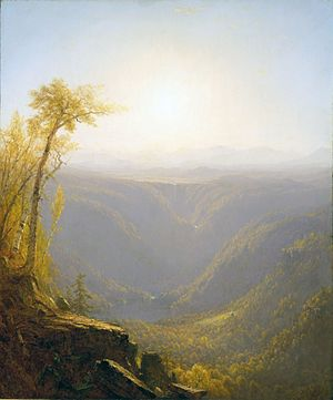 Sanford Robinson Gifford - A Gorge In The Mountains