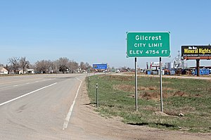 Gilcrest, Colorado - Entering Gilcrest from the south on U.S. Route 85.