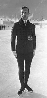 Gillis Grafström Swedish figure skater