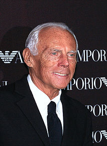 Giorgio Armani Italian fashion designer