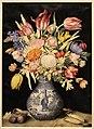 Giovanna garzoni, vaso cinese con tulipani e altri fiori, due susine e due piselli, 1641-52 ca. (GDSU) 01.JPG