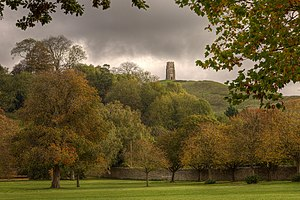 Oaks of Albion - Glastonbury Tor from a distance.