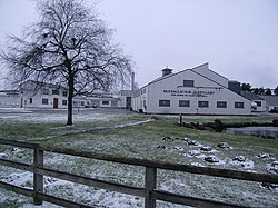 Glenallachie distillery in winter
