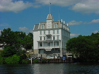 Goodspeed Musicals - The Goodspeed Opera House from the Connecticut River