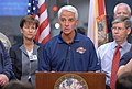 Governor Charlie Crist addressing the media at the State Emergency Operations Center.jpg