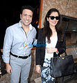 Govinda with daughter Narmmadaa at Bright Advertising Awards announcement.jpg