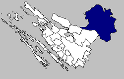 Gračac municipality within Zadar County