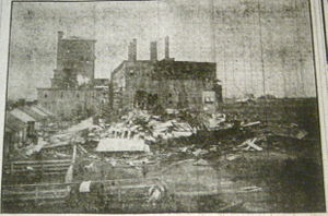 1909 Grand Isle hurricane - The Gramercy Refinery in Louisiana after the hurricane