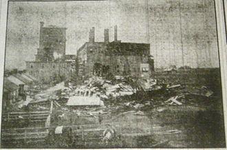 1909 Grand Isle hurricane - The Gramercy Refinery in Louisiana after the hurricane