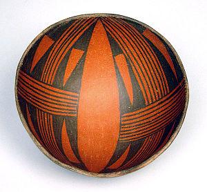 Tusayan, Arizona - A Tusayan Black on Red bowl from Grand Canyon National Park. Tusayan Pueblo is the namesake for the modern town.