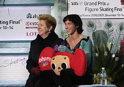 Grand Prix Final 2008 Johnny Weir and Galina Zmievskaya.jpg