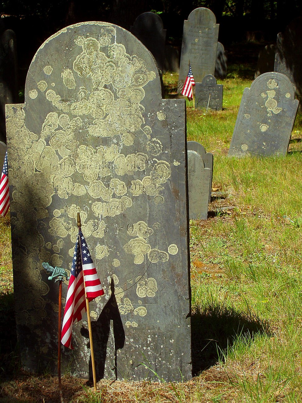 Graves in the Central Burying Ground, Carlisle, Massachusetts