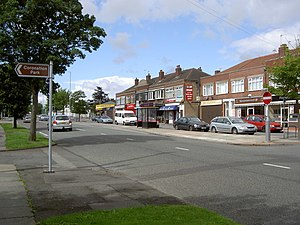 Greasby - Shops on Greasby Road