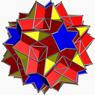 Compound of six pentagonal prisms - Image: Great dodecicosidodecahedr on
