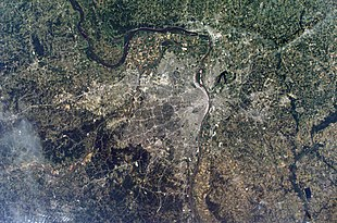 """A <a href=""""http://search.lycos.com/web/?_z=0&q=%22NASA%22"""">NASA</a> image of the Greater St. Louis area."""