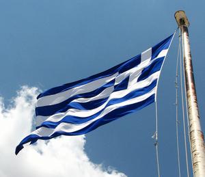 English: A Greek flag waving. Ελληνικά: Μια ελ...