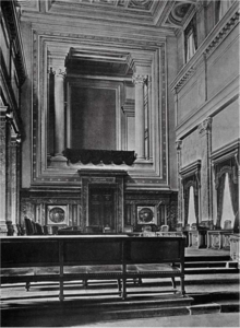 Bild des großen Gerichtssaals