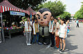 Group Portrait of Newdawan Education and Nursing Institution Livers with ROCA Sergeant Mascot 20150704.jpg