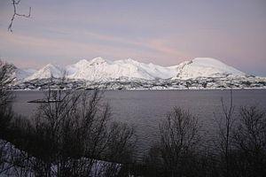 Grytøya, view from Hinnøya