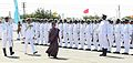 Gujarat Chief Minister Anandiben Patel reviewing the Guard of Honour at the commissioning ceremony of INS Sardar Patel.jpg