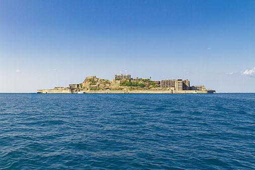 Gunkanjima Island from the Sea