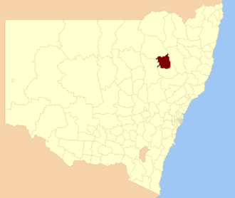 Gunnedah Shire - Location in New South Wales