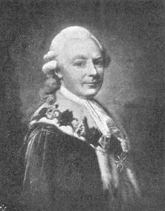 Treaty of Amity and Commerce (United States–Sweden) - Gustaf Philip Creutz, dressed in the robes of a Swedish Privy Councilor, with the collar of the Royal Order of the Seraphim around his neck.