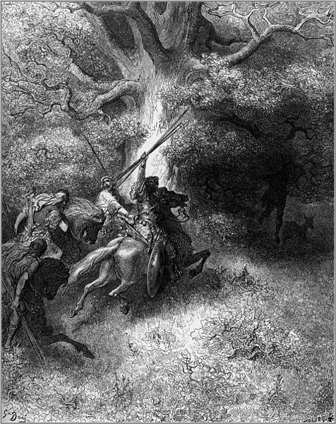 ''A morte de Abxalom'' ilustración de Gustave Doré (Wikipedia)