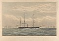 H.M. Steam Frigate Bulldog steaming into Kioge Bay with Her Britannic Majesty's Minister at Copenhagen on board - The Bearer of the Declaration of War with Russia by England (proof) RMG PY0932.jpg