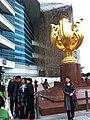 HKCEC 灣仔北 Wan Chai North 金紫荊廣場 Golden Bauhinia Square 博覽道東 Forever Blooming Bauhinia Sculpture Mar-2014 construction site.JPG